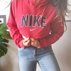 Nike // spell out cropped hoodie
